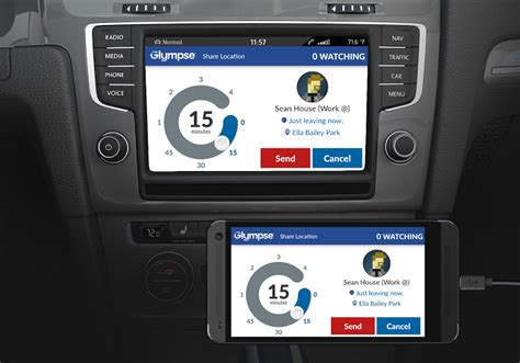 mirrorlink android glympse to be integrated with volkswagen and peugeot cars