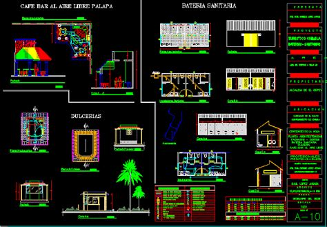 coffee shop  dwg design plan  autocad designs cad