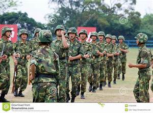 Chinese Army In Hong Kong Garrison Editorial Photo - Image ...