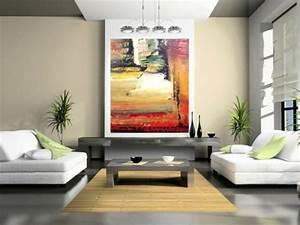 Gemälde Für Wohnzimmer : ein kunstvolles cooles wohnzimmer einrichten design und ideen ~ Markanthonyermac.com Haus und Dekorationen