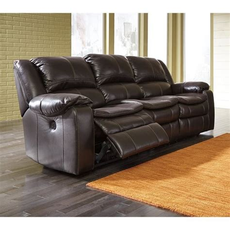 Faux Leather Recliner Sofa by Faux Leather Power Reclining Sofa In