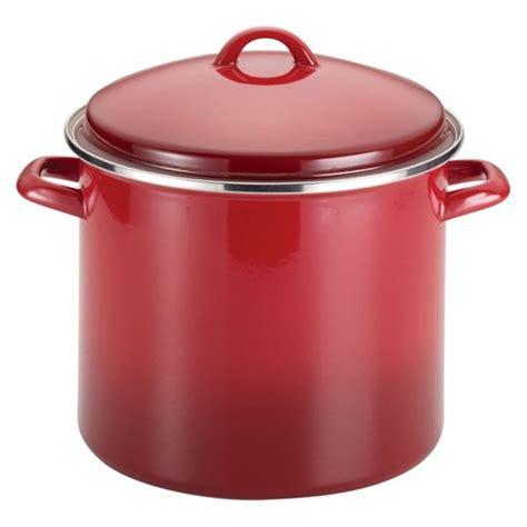 enamel stock pot rachael porcelain enamel 12 quart covered stock pot 3567