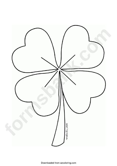 leaf clover template printable