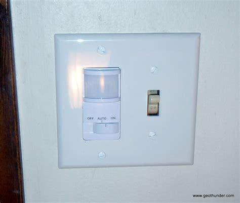 over the light fixture installing a better light switch