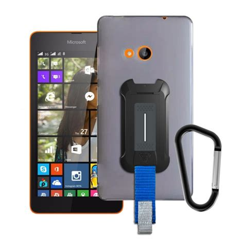 microsoft lumia 540 tpu protective cover with belt clip and carabiner