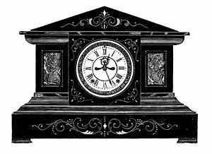 Antique, Image, -, Fancy, Old, Clock