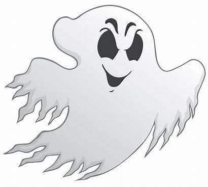 Ghost Spooky Clipart Funny Creepy Cartoon Halloween