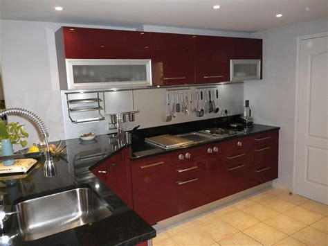 modele de plan de travail cuisine cuisine et noir pas cher sur cuisine lareduc com