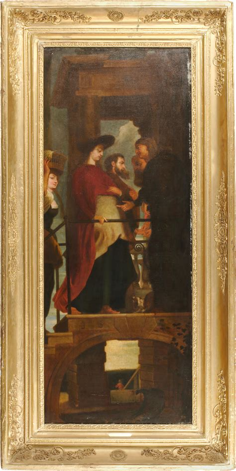 Peter paul jaukkuri charges : Bonhams : After Sir Peter Paul Rubens The visitation; The presentation (a pair) each 73 x 30in ...