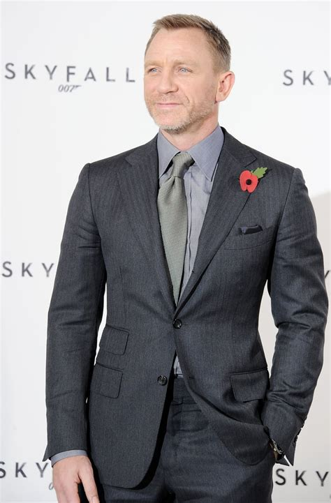Daniel Craig donned a suit for a photocall in London ...