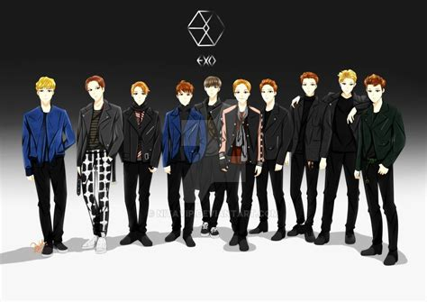 anime suho exo exo anime version quot call me baby quot kpop songs i like