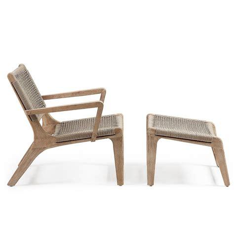 chaise de jardin en bois fauteuil de jardin avec repose pied en bois basneti by drawer