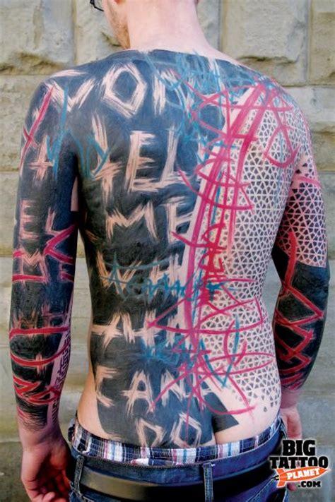 invisible man  swastika abstract tattoo