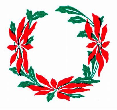 Wreath Clip Floral Vector Christmas Flower Clipart