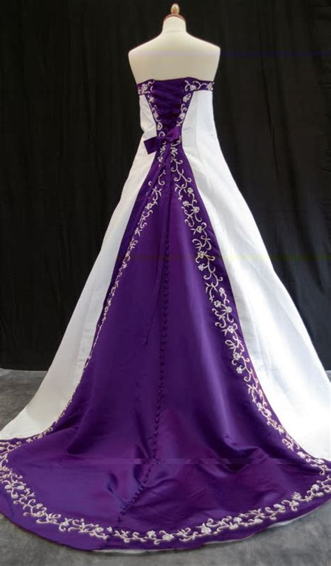 blue and purple wedding dress the wedding inspirations stylish purple wedding dress