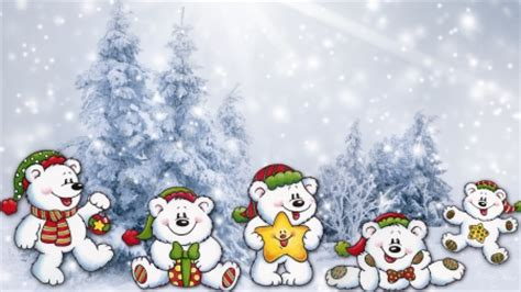 Whimsical Animal Wallpaper - cheerful teddys winter nature background wallpapers on