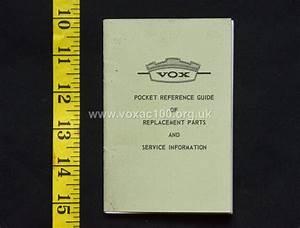 Thomas Organ Vox Pocket Reference Guide