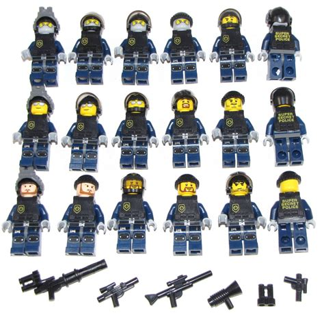 lego swat team minifigures men figures army police squad