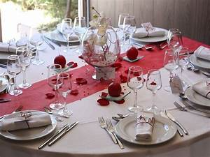 Modle Dcoration De Table Mariage Rouge Ide Deco