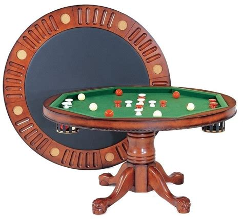 round poker table with dining berner billiards 3 in 1 table round 54 quot with bumper pool