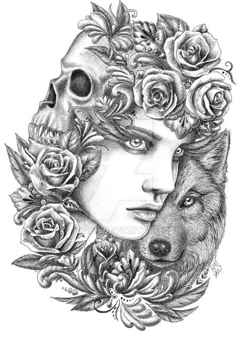 Wolf 2 by fnigen | Paper Art | Pinterest | Wolf, Color sheets and Coloring books