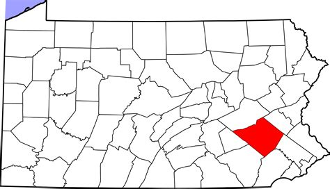filemap  pennsylvania highlighting berks countysvg