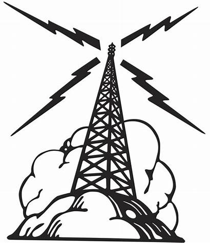 Radio Clipart Tower Mast Signal Waves Clip