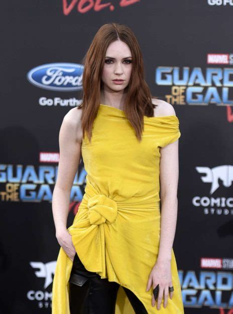 38 Karen Gillan Half Nude Hot Photos Topless Pics