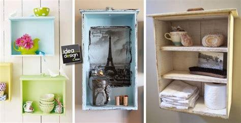 mensole a cassetto vecchi cassetti diventano mensole ecco 20 idee