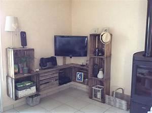les 63 meilleures images du tableau caisse meuble With meuble d angle maison du monde 5 47 idees deco de meuble tv