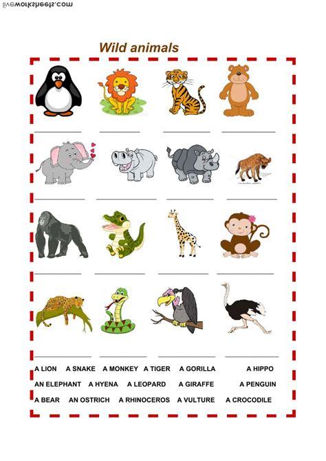 animals interactive worksheet