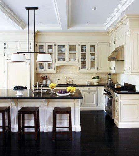 black tile floors kitchen