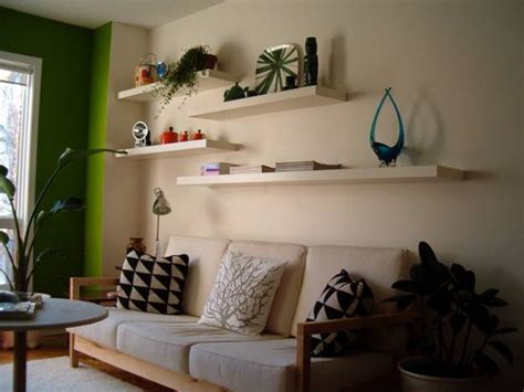 creative  modern interior decorating  open wall shelves