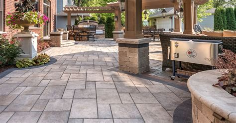 unilock patio designs addressing the challenges of using traditional flagstone