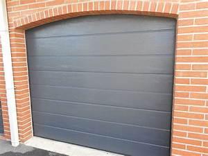 Porte De Garage Gris Anthracite : r alisations portes de garage sectionnelles mateco ~ Melissatoandfro.com Idées de Décoration