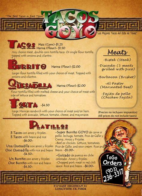 taco menu menu de tacos related keywords suggestions menu de tacos long tail keywords