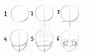 how to draw anime heads step by step for beginners ...