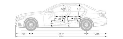 mercedes  class dimensions interior  exterior sizes