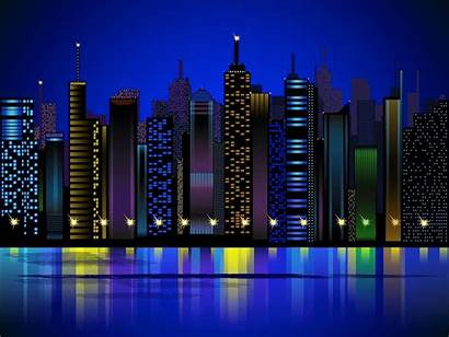 Graphics Vector Night Buildings Freevector