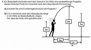 Quadratische Funktion Berechnen : parabel basketball abwurf in 2m h he flugbahn parabel aufgabe zur quadratischen gleichung ~ Themetempest.com Abrechnung