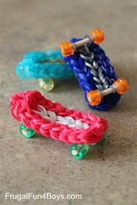 how to make a skateboard rainbow loom charm frugal for boys and
