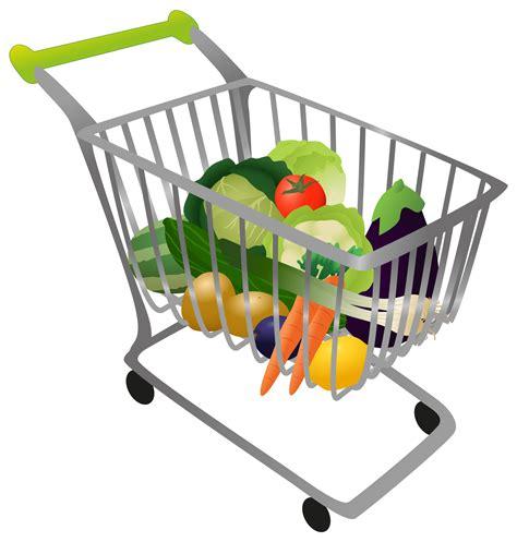 Shopping Cart Clipart Grocery Cart Clipart