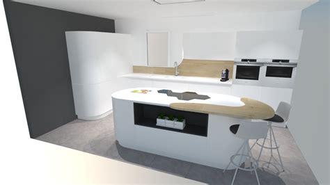 cuisine design avec ilot central davaus cuisine design avec ilot central rond avec des idées intéressantes pour la