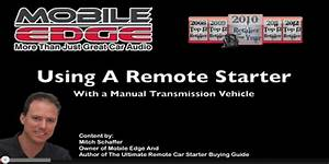 How To Use A Remote Car Starter On A Manual Transmission