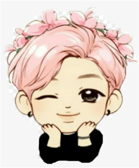 bts jimin chibi drawing transparent png