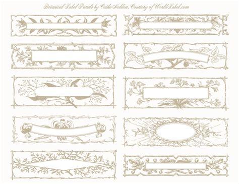 botanical label panel designs  cathe holden