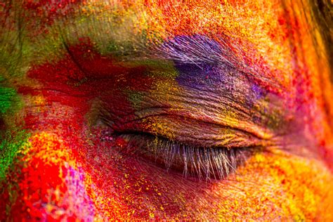 india celebrates holi  festival  colors