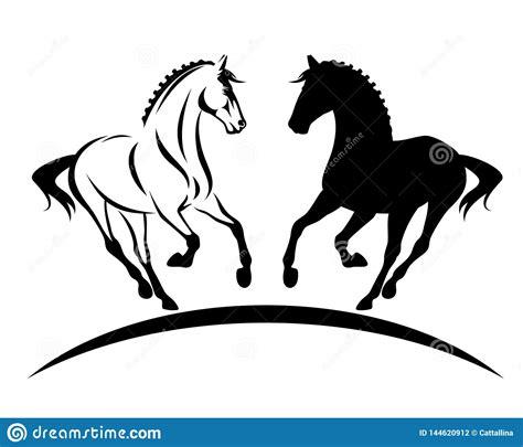 braided horse mane stock illustrations  braided horse