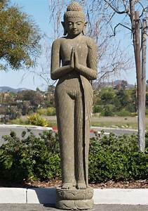 """SOLD Tall Standing Buddha Sculpture 80"""" (#59ls11): Hindu ..."""