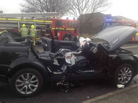 luxury range rover  roof chopped   crash